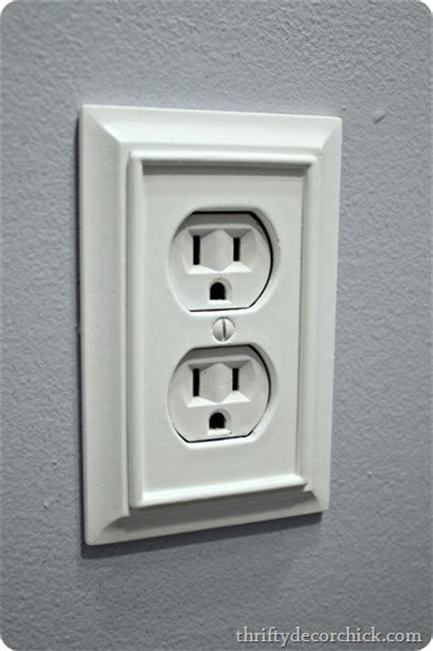 Home Depot Design Outlet Decorative Outlet Cover With Moulding Buy These At Home