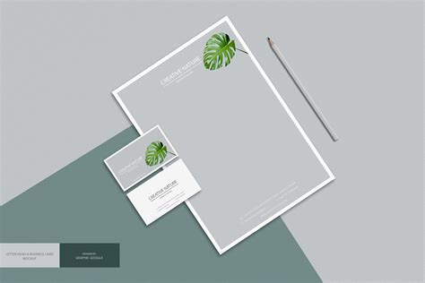 Business Letter Mockup free letter and business card mockup psd