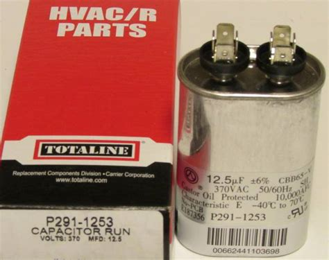 run capacitor for carrier air conditioner 12 5 mfd 370 volt bryant carrier totaline oval run capacitor