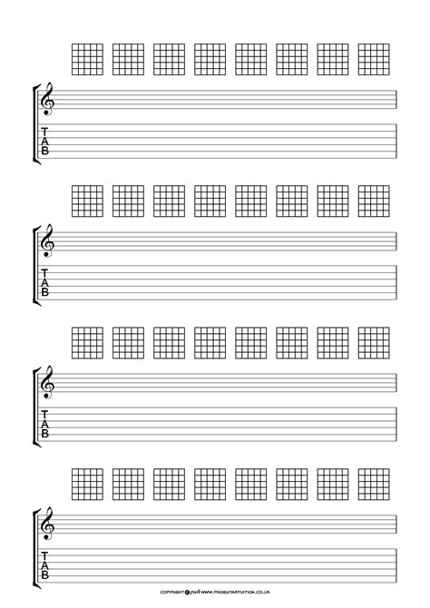 printable staff chord and tab paper free blank sheet music guitar chords educational
