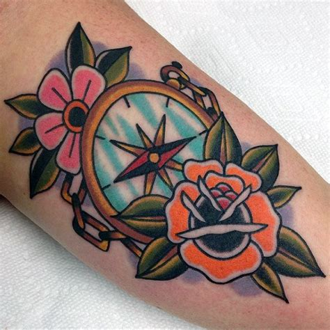 traditional compass tattoo 40 traditional compass designs for school