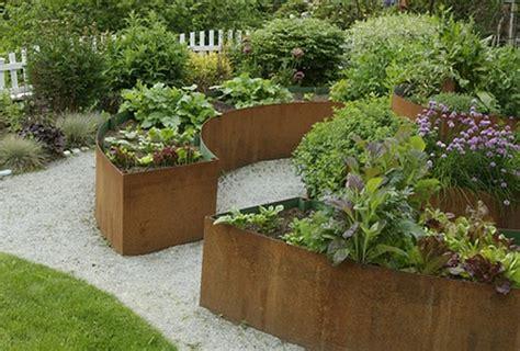 Curved Metal Garden Bench Raised Garden Beds Photos And Ideas