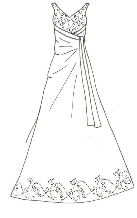 coloring page of a dress prom dress coloring pages 21370 bestofcoloring com