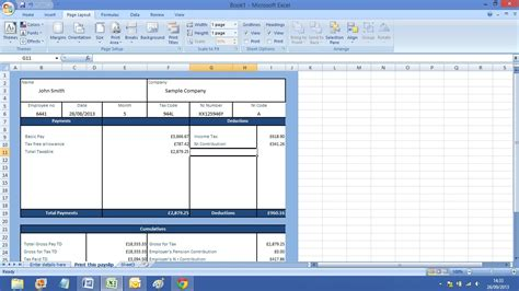 salary statement format in excel payslip excel template