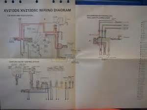 yamaha factory wiring diagram 1986 xvz13 da xvz13 dsc audio venture air ebay