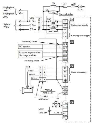 servo drive motor wiring diagram wiring diagrams