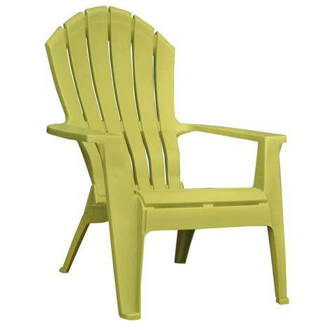 Plastic Patio Chairs Shop Mfg Corp Green Resin Stackable Patio Adirondack Chair At Lowes