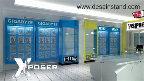Rak Komputer interior toko retail kontraktor pameran
