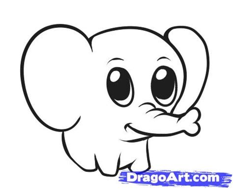 How To Draw A Simple Elephant Step By Step Safari Animals Animals Free Online Drawing Easy Animals To Draw