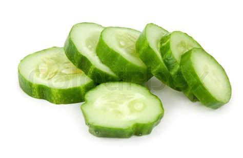 Landscape Inspiration by The Cut Cucumber Is Isolated On A White Background Stock