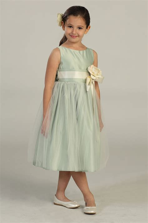 sksg girls dress style  sleeveless satin