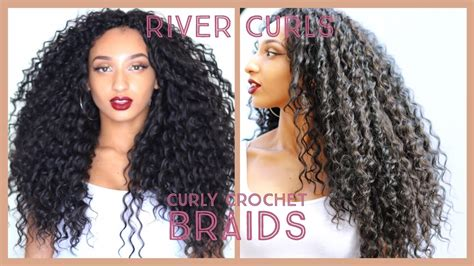 synthetic braids to wet wavy youtube curly crochet braids knotless watch me install wavy hair