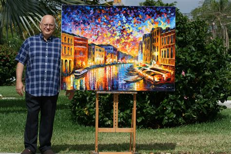 biography of a con artist file leonid afremov with his painting venice grand canal