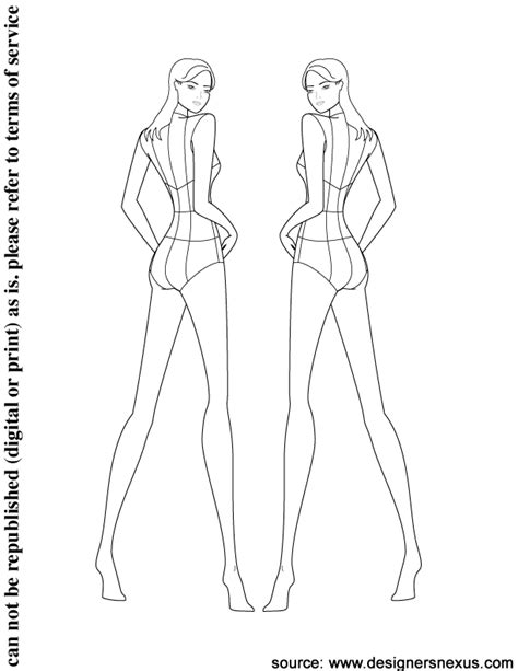 Fashion Figure Drawing Dyahtri N W Astuti the gallery for gt fashion template