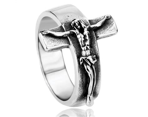wholesale stainless steel cross rings for