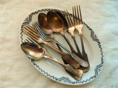 Cool Flatware Old Rogers Amp Rockford Silver Plate 10 Silver Forks Spoons