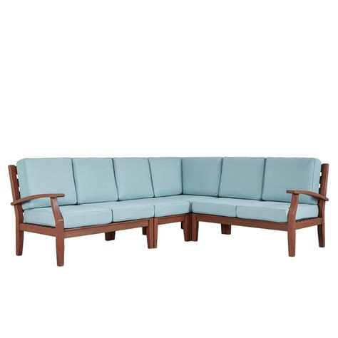 wood outdoor sofa homesullivan verdon gorge brown 3 piece oiled wood outdoor