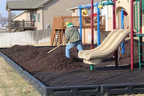 playground rubber mulch an installation overview