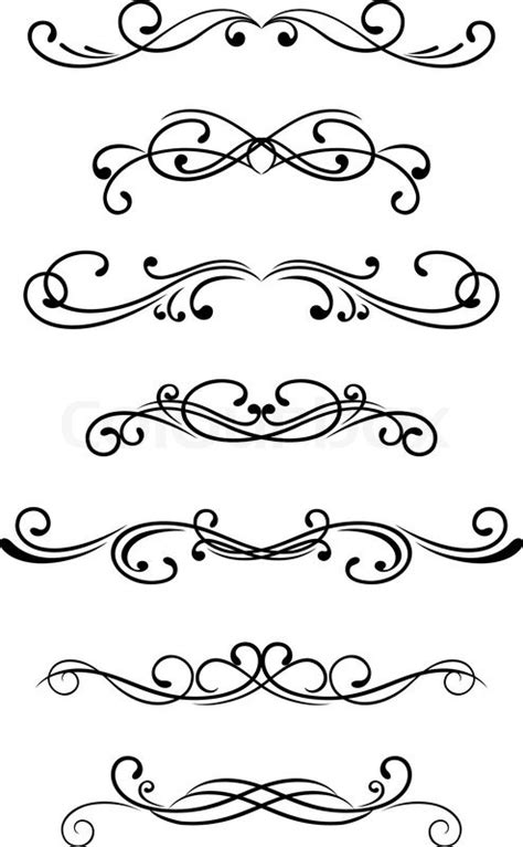 scroll pattern font stock vector of swirl elements and monograms for design