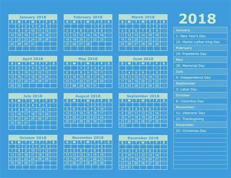 2018 Calendar With Holidays And Observances Holidays Archives 2018 Calendar Printable For Free