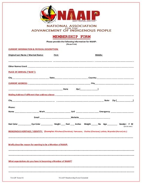 naaip membership form extensive official1