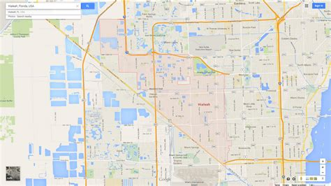 hialeah florida map