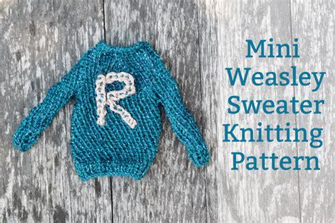 knitting pattern ron weasley jumper mini weasley sweater knitting pattern and hermione time