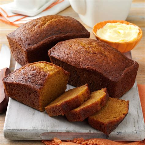 delicious pumpkin bread recipe taste of home