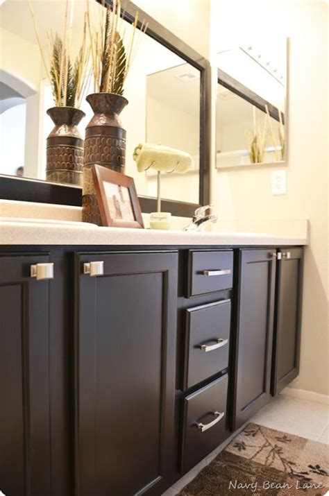 how to paint bathroom cabinets black painted bathroom cabinets for the home