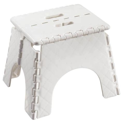 sturdy folding step stool step stool folding easy fold sturdy kitchen ladder white