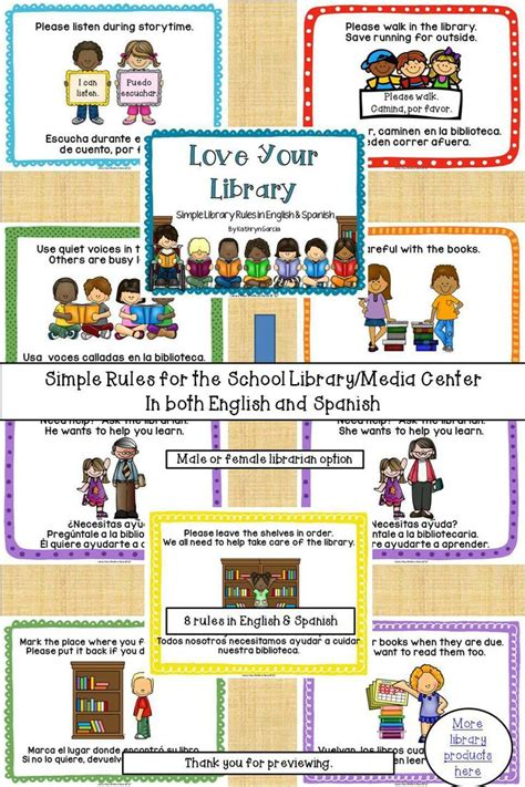 printable library poster love your library simple library rules in english and
