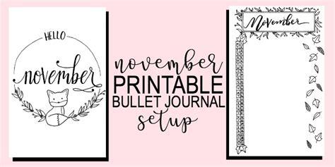 Shop With Loft by Printable November Bullet Journal Setup The Petite Planner