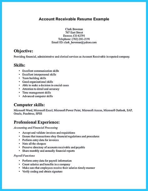 accounts receivable resume template resume builder