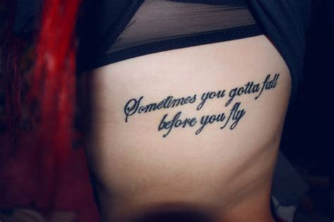 sometimes you gotta fall before you fly tattoo meaningful tattoos3d tattoos
