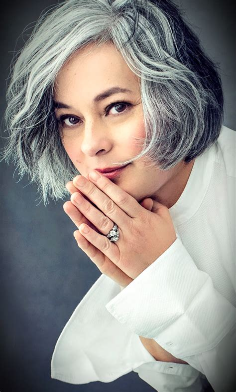 pictures of grey hairstyles with pink highlights salt and pepper gray hair grey hair silver hair white