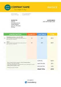 color stationary pdf invoice template free templates for