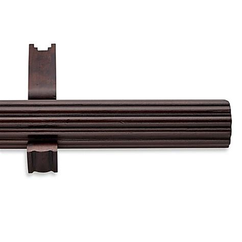 cambria wood curtain rods cambria 174 estate wood single fluted curtain rod in