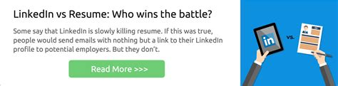 Resume Tips Linkedin Linkedin Vs Resume Who Wins The Battle Differences