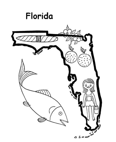 Florida State Coloring Pages florida coloring page coloring home