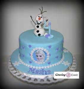 Single tier frozen birthday cake cake by craving cake cakesdecor