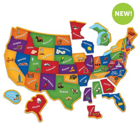 Thematic Magnet Puzzle Circus magnetic u s map puzzle learning resources 174