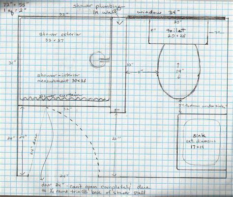 graph paper for floor plans 5 acres a dream bathroom plans on graph paper 4x6