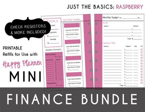 Berkualitas Register Mini Happy mini happy planner finance bundle check register monthly
