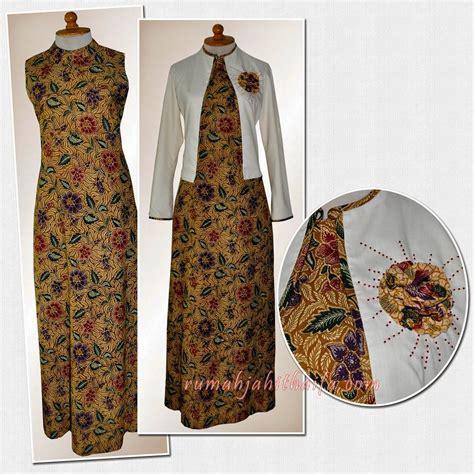 Gamis Blazer Abu 18 model gamis batik kombinasi blazer 2018 terpopuler