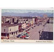 ANCHORAGE AK 1950s Cars Main Street Northwest Orient
