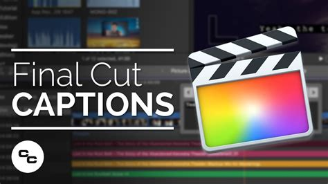 youtube tutorial final cut captions in final cut pro x 10 4 1 tutorial youtube