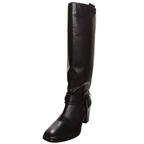 vince camuto black leather boots sz 39 for sale at 1stdibs