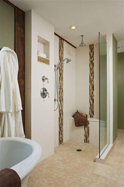 Zero Entry Shower by The Barn Master Bath Zero Entry Shower Shower Seat