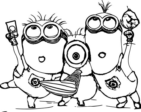 Minion Coloring Pages Best Coloring Pages For Kids Colouring Pages Free