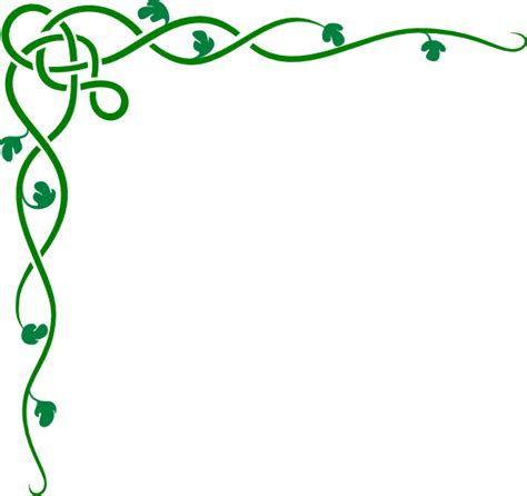 celtic vine green clip art at clker com vector clip art